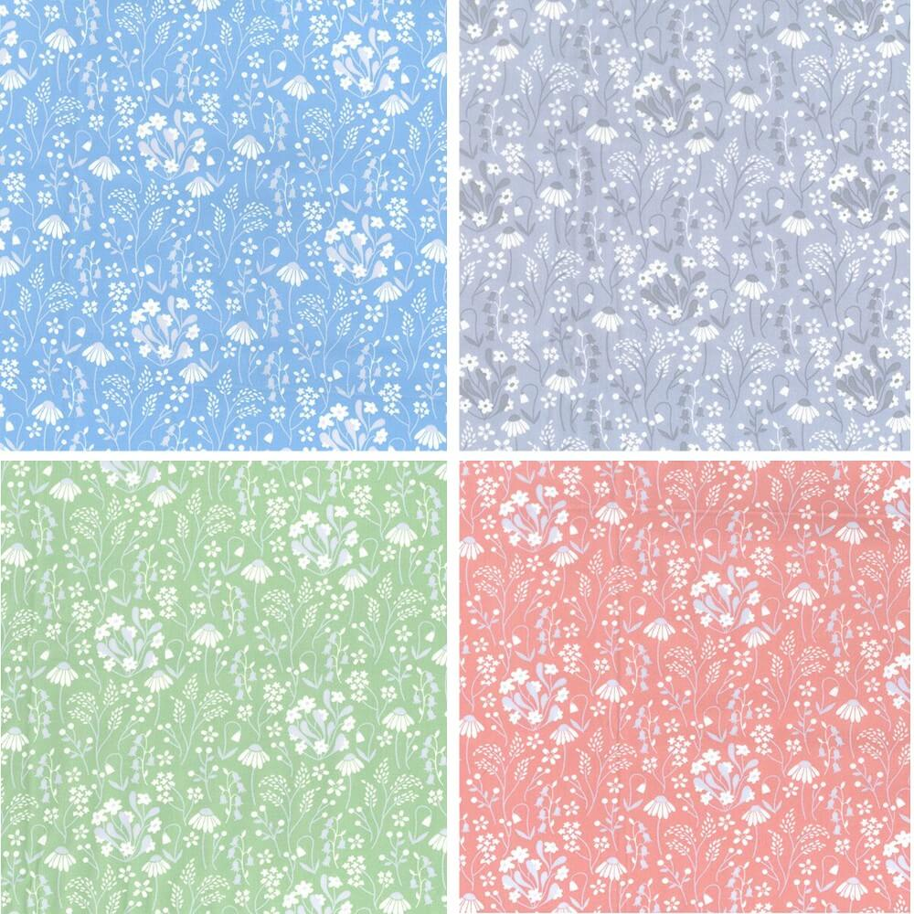 Rose 100% Cotton Poplin Fabric Rose & Hubble Bobby's Sunflowers Floral Flower