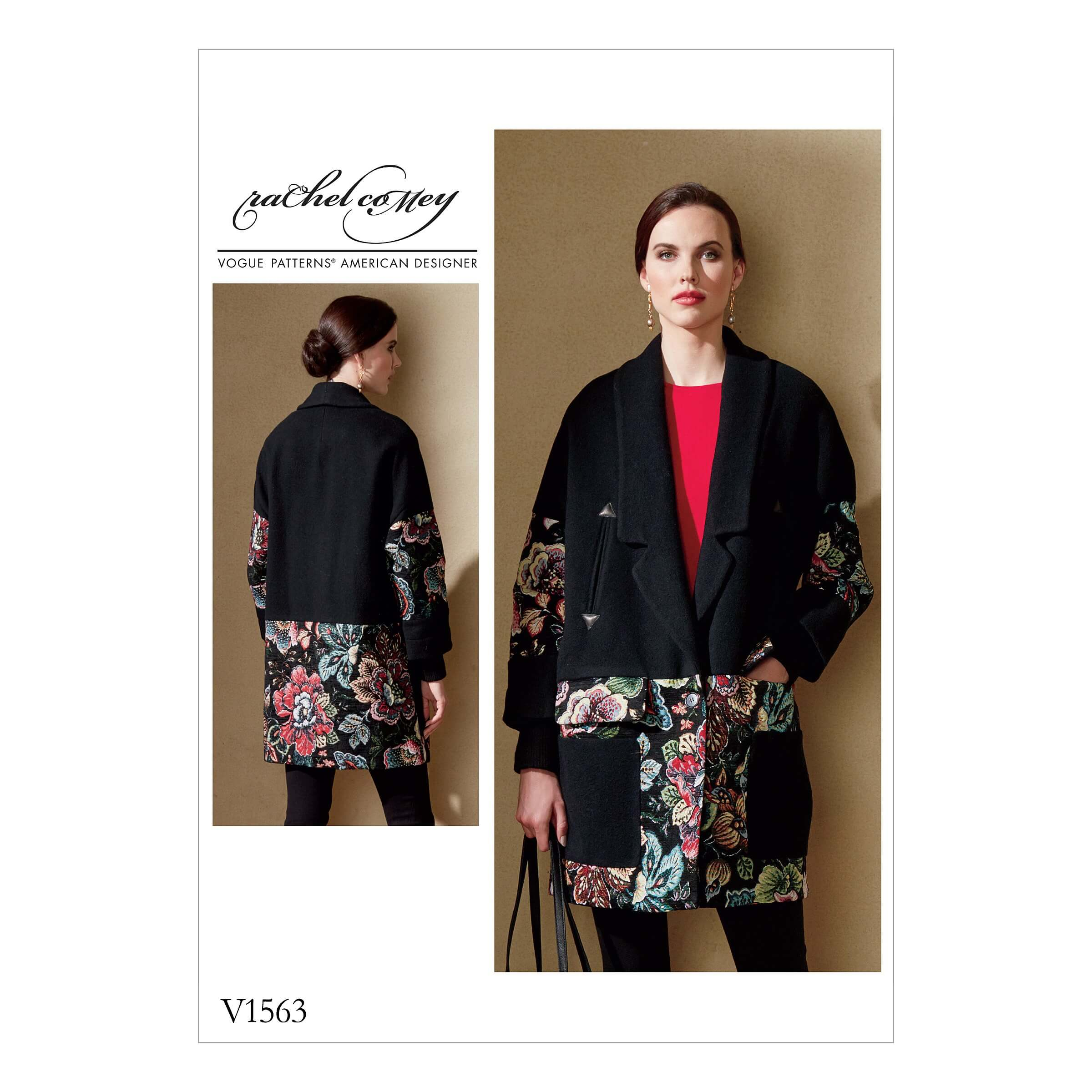 Vogue Sewing Pattern V1563 Women's Loose Jacket with Contrast Detail