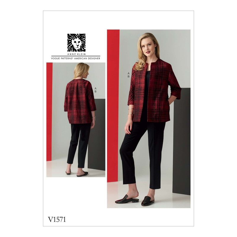 Vogue Sewing Pattern V1571 Women's Slim Trousers and Loose Lined Jacket