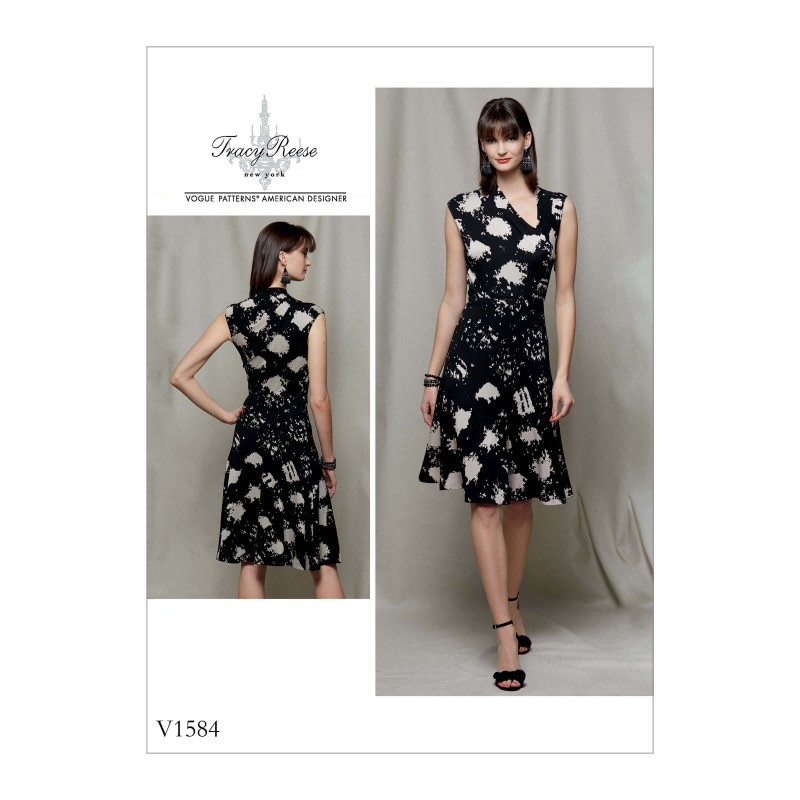 Vogue Sewing Pattern V1579 Women/'s Dress with Attached Cape and Belt