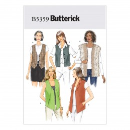 Butterick Sewing Pattern 5359 Misses' Vest Waist Coat