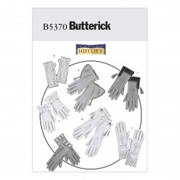 Butterick Sewing Pattern 5370 Historical Style Vintage Unlined Gloves