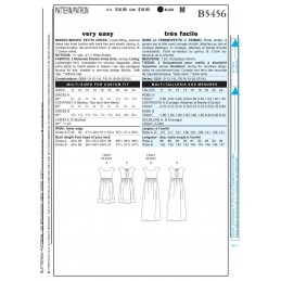 Butterick Sewing Pattern 5456 Misses' Petite Dress in 2 Lengths