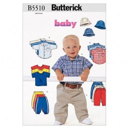 Butterick Sewing Pattern 5510 Toddlers Shirt T-Shirt Trousers & Hat