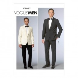 Vogue Sewing Pattern V9097 Men's Suit Jacket And Trousers Formal Wear