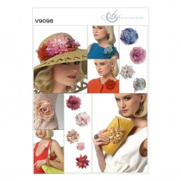 Vogue Sewing Pattern V9098 Decorative Flowers For Clutch Bags And Garments