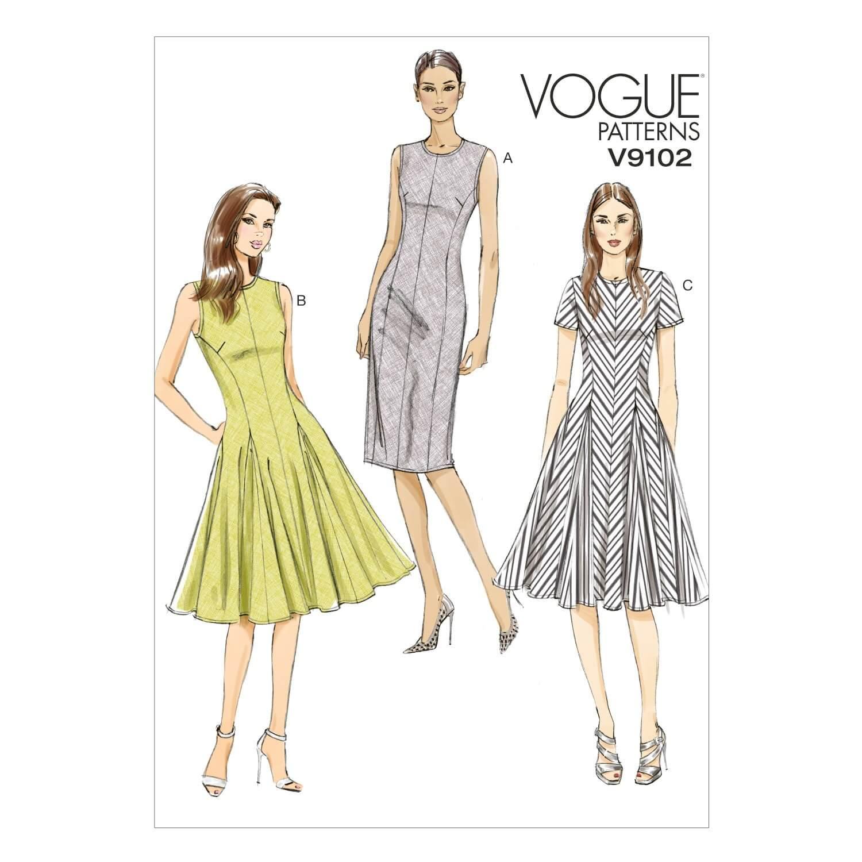 Vogue Sewing Pattern V9102 Women's Petite Summer Dress