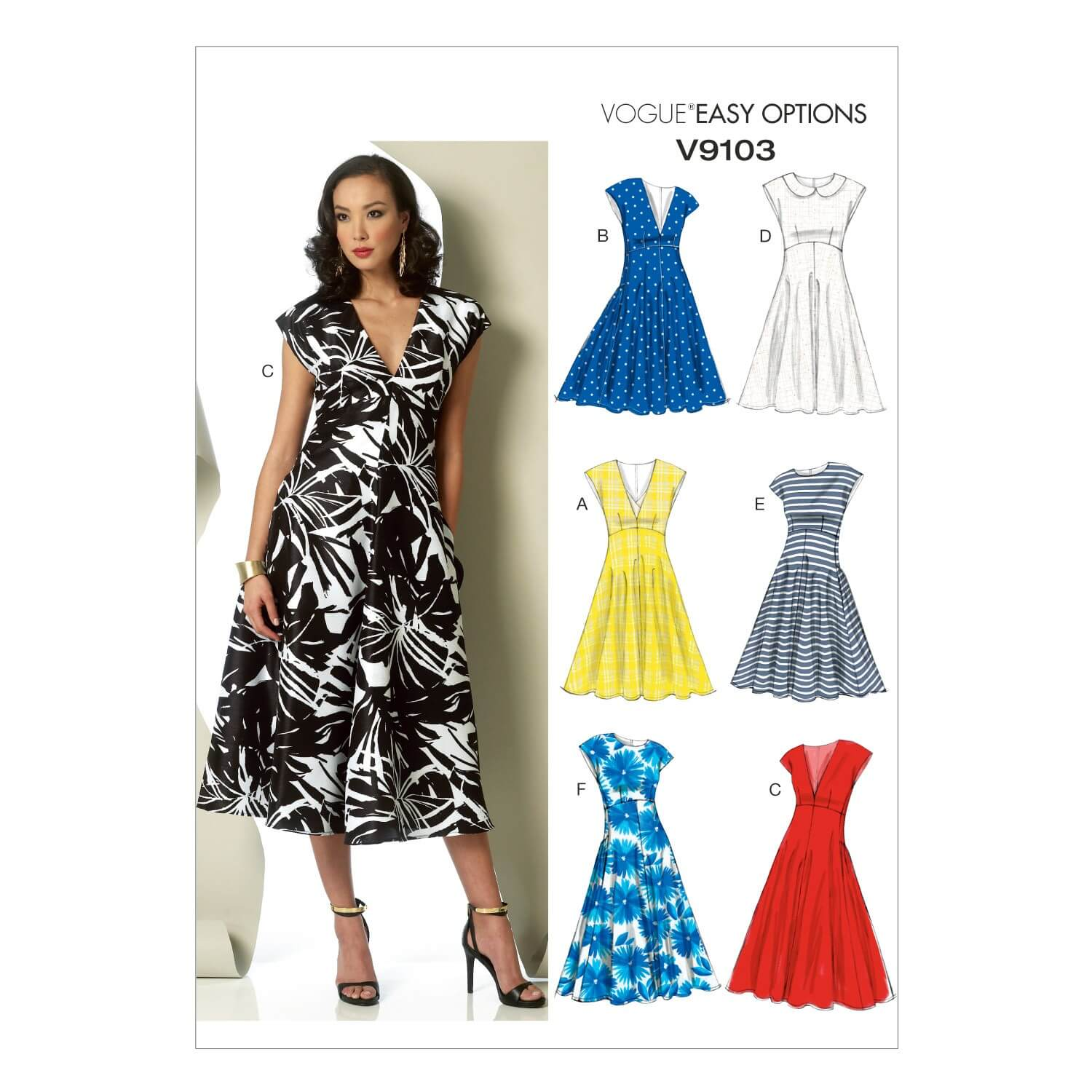 Vogue Sewing Pattern V9103 Women's Summer Floaty A Line Dress