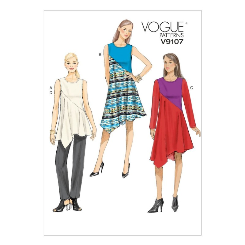 Vogue Sewing Pattern V9107 Women's Tunic Dress And Trouser Pants