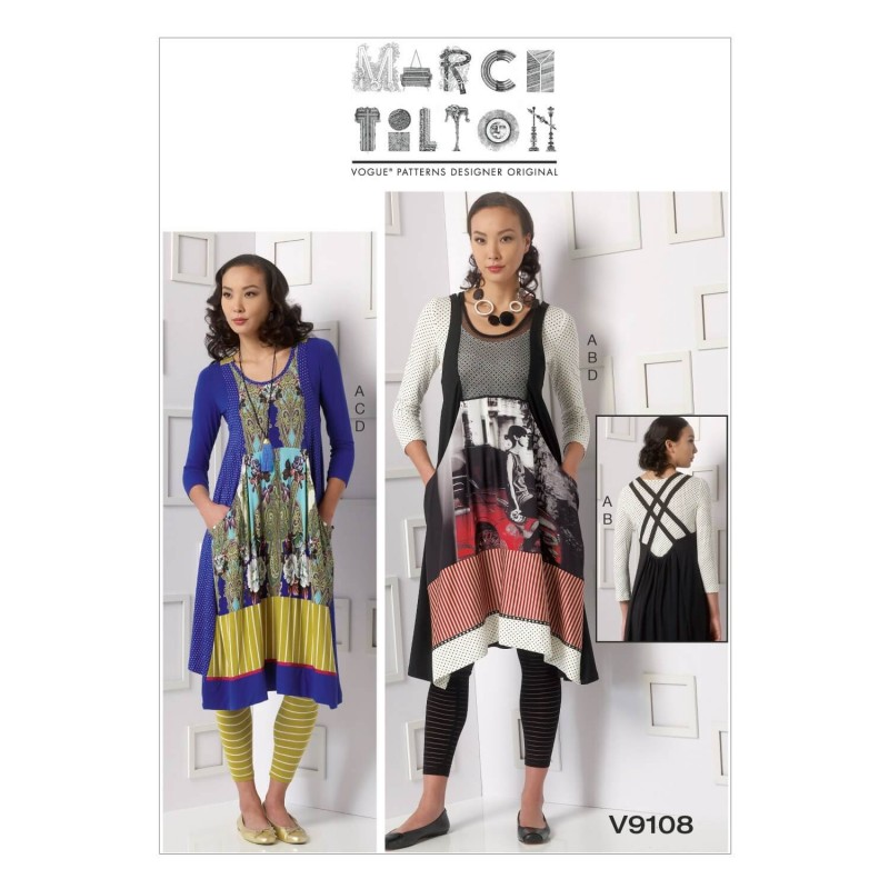 Vogue Sewing Pattern V9108 Women's Misses Top Dress And Leggings