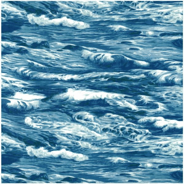 100% Cotton Patchwork Fabric Nutex Sea Ocean Waves Nautical