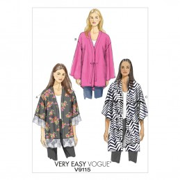 Vogue Sewing Pattern V9115 Women's Kimono Lightweight Jacket