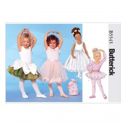 Butterick Sewing Pattern 5545 Children's Ballerina Leotard Skirt & Bag