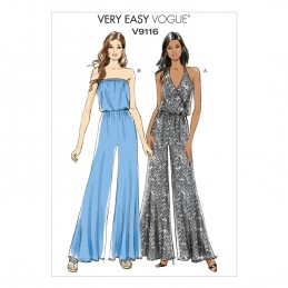 Vogue Sewing Pattern V9116 Women's Wide Leg Jumpsuit