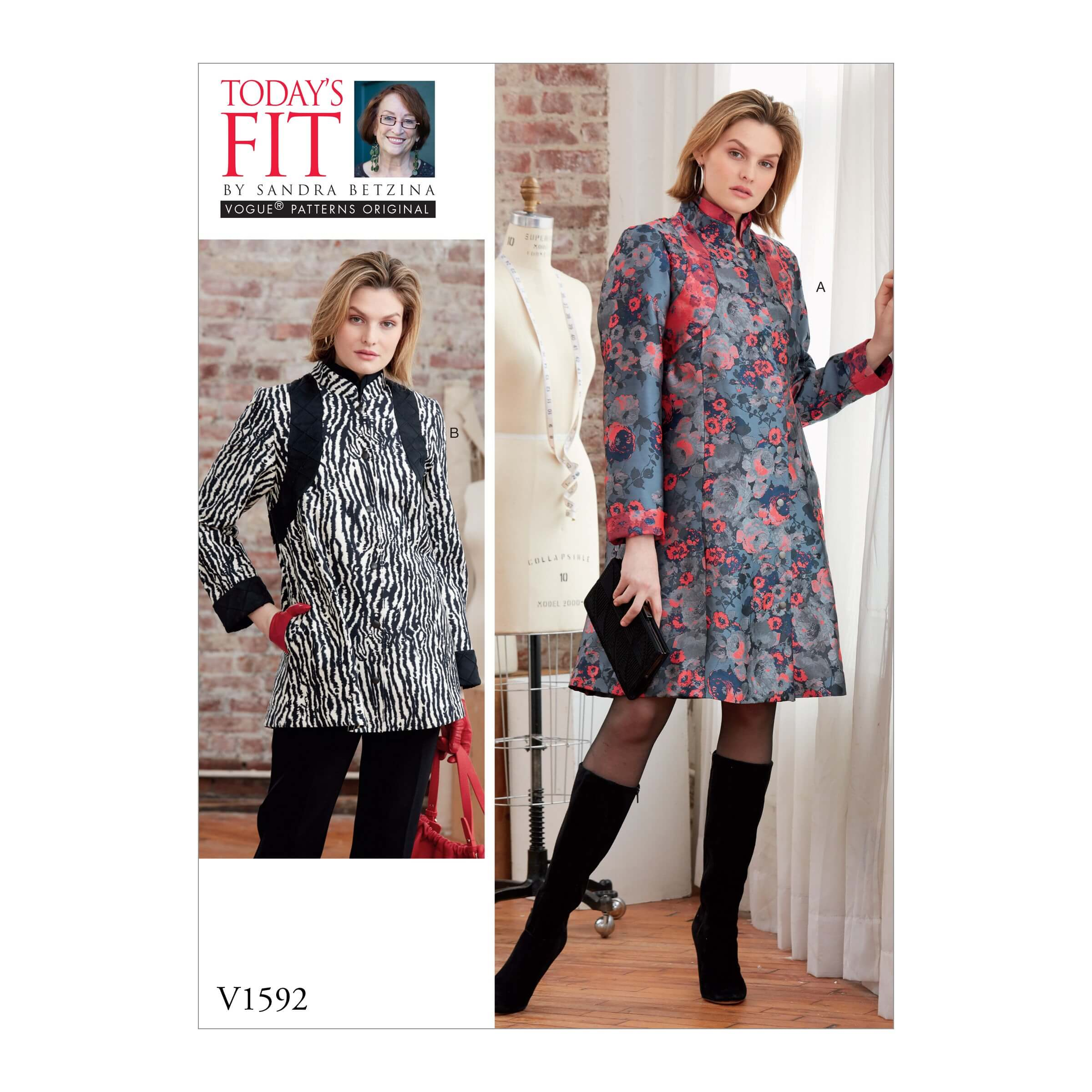 Vogue Sewing Pattern V1592 Women's Swing Jacket with Length Options