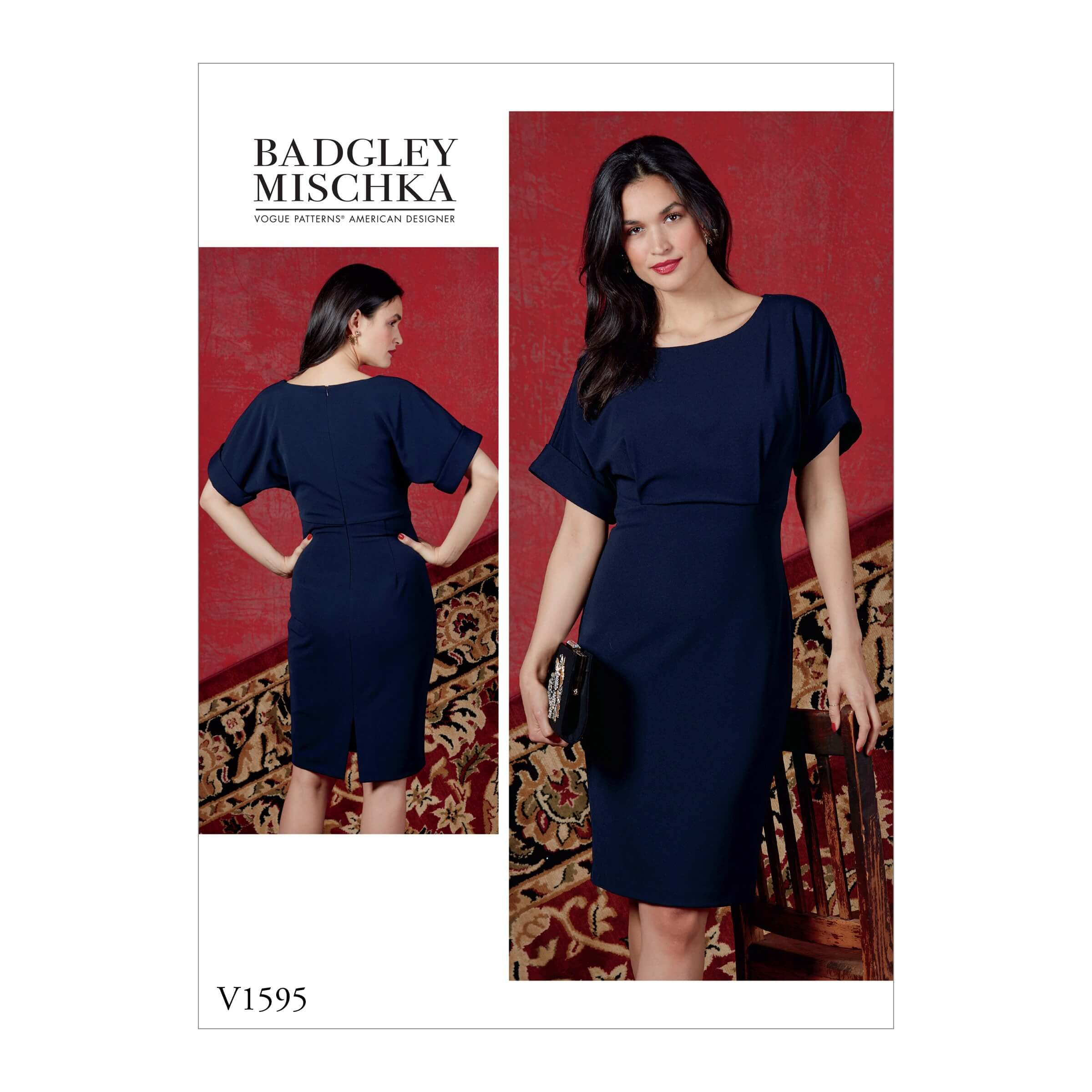 Vogue Sewing Pattern V1595 Women's Slim Dress with Box Flare Sleeves