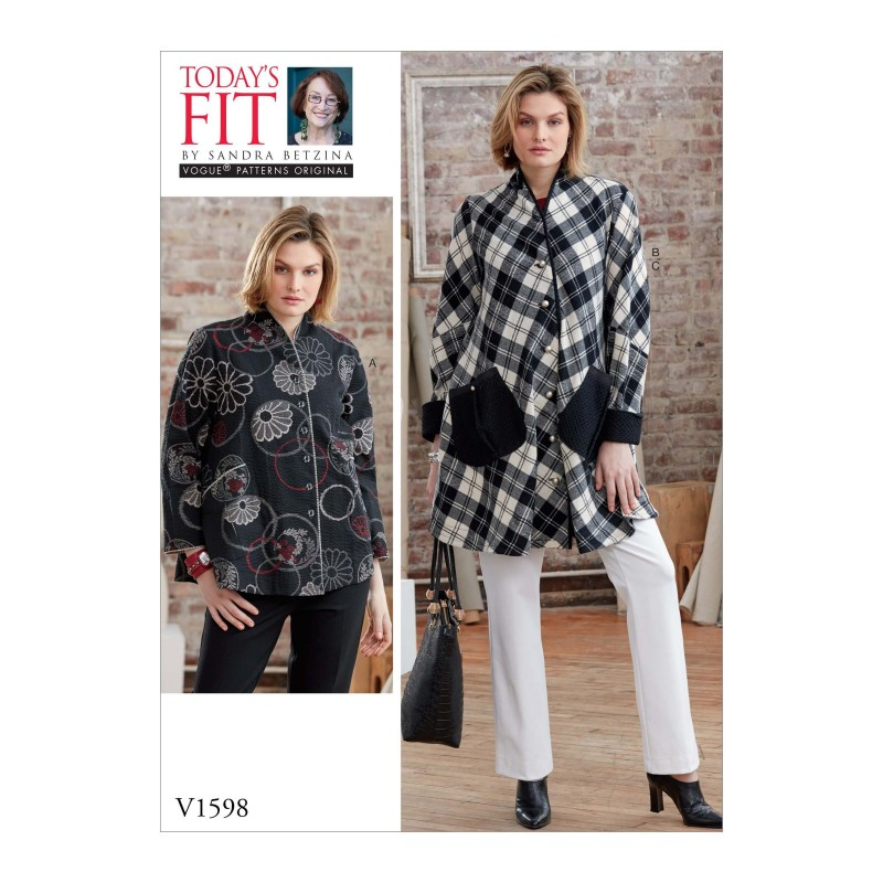 Vogue Sewing Pattern V1598 Women's Loose Fit Blouses and Trousers