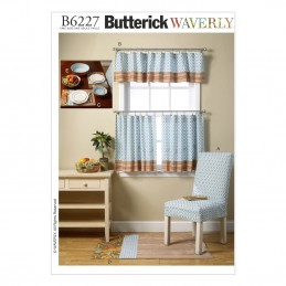 Butterick Sewing Pattern 6227 Kitchen Items Chair Rug Curtain Placemats