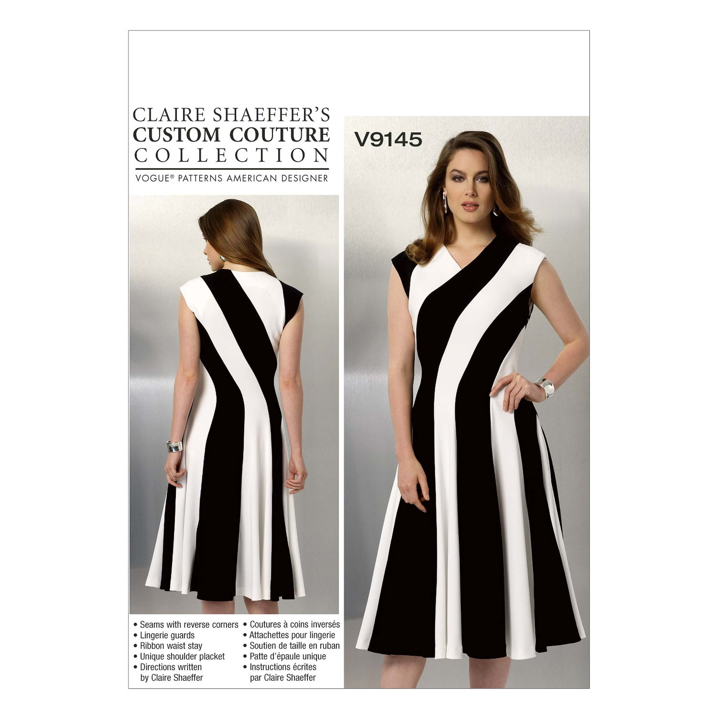 Vogue Sewing Pattern V9145 Women's Fitted And Flared Dress