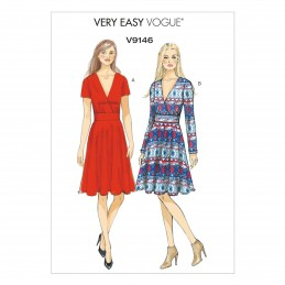 Vogue Sewing Pattern V9146 Women's Summer Dress With Flared Skirt
