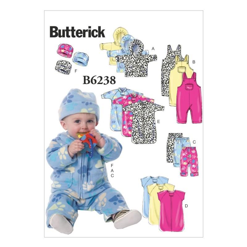 Butterick Sewing Pattern 6238 Babies Jacket Romper Trousers & Hat