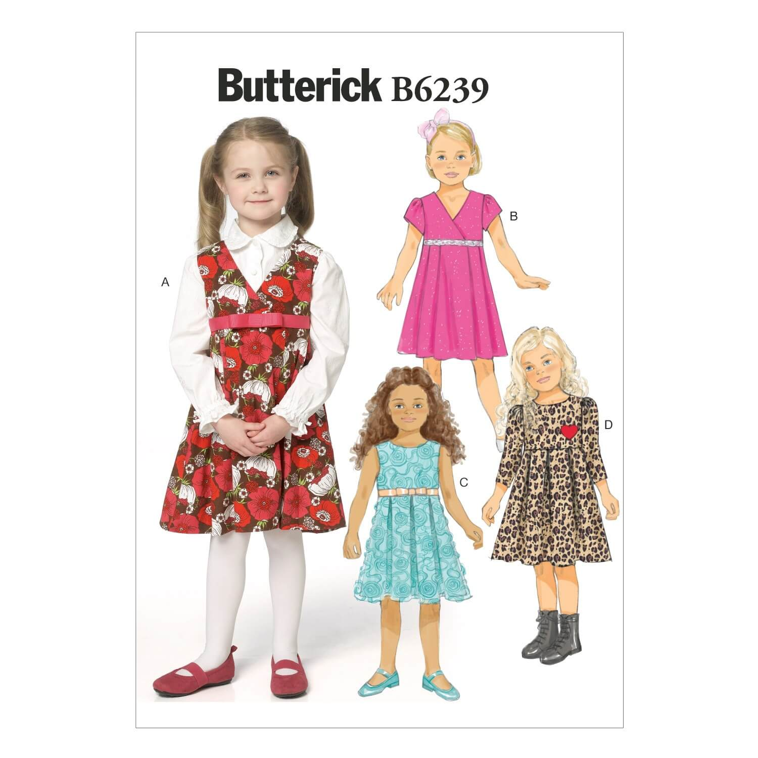 Butterick Sewing Pattern 6239 Childrens Dress Summer Dress