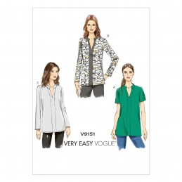 Vogue Sewing Pattern V9151 Women's Loose Fitting Pull Over Tunic Top