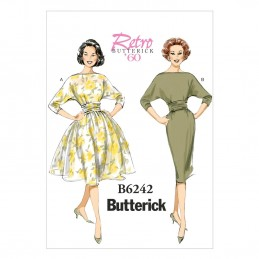 Butterick Sewing Pattern 6242 Misses' Slim Waist Pullover Dress