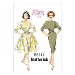 Butterick Sewing Pattern 6242 Misses' Slim Waist Pullover Dress