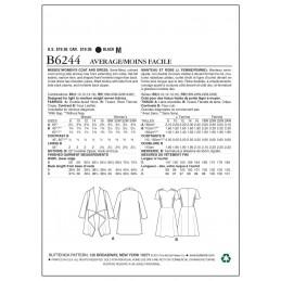 Butterick Sewing Pattern 6244 Misses' Womens coat & Dress