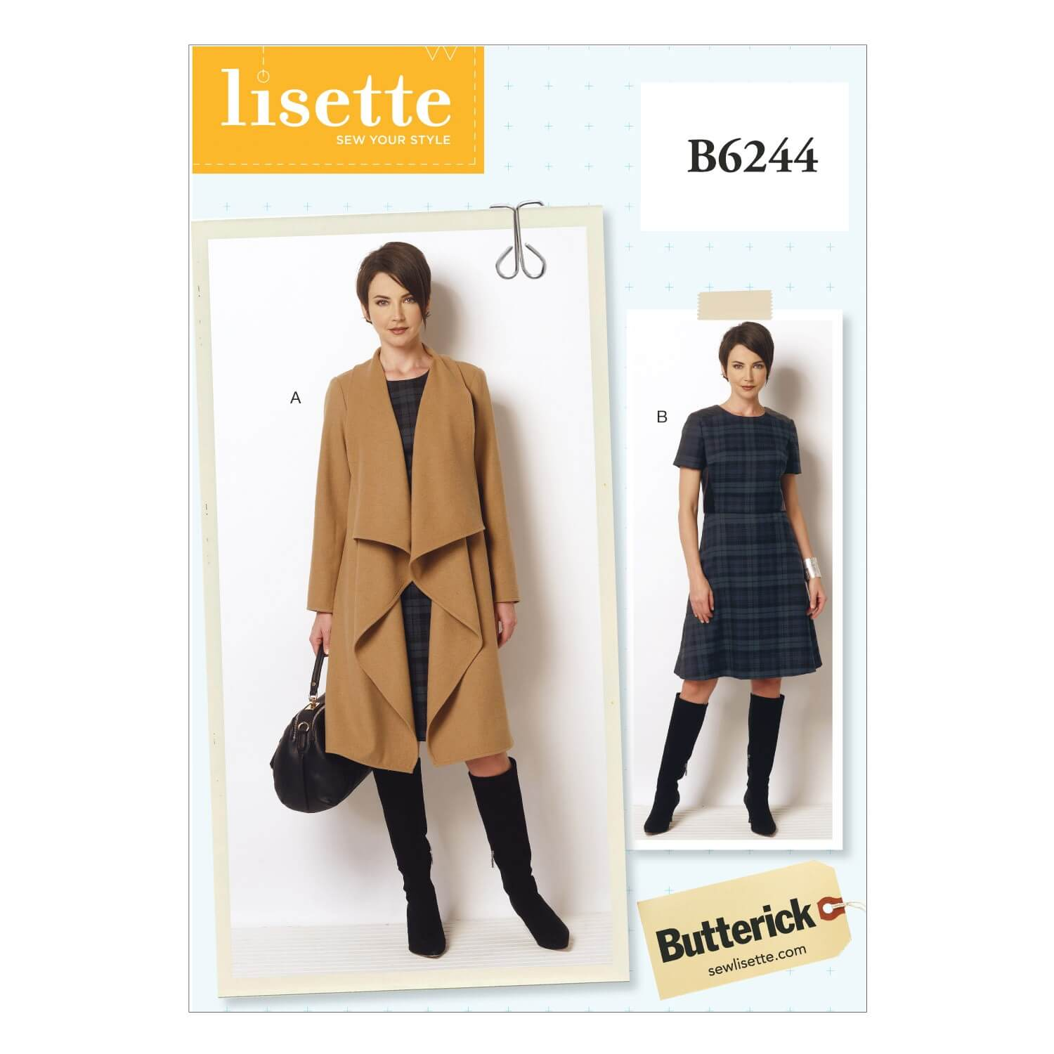 Butterick Sewing Pattern 6244 Misses' Womens coat & Dress