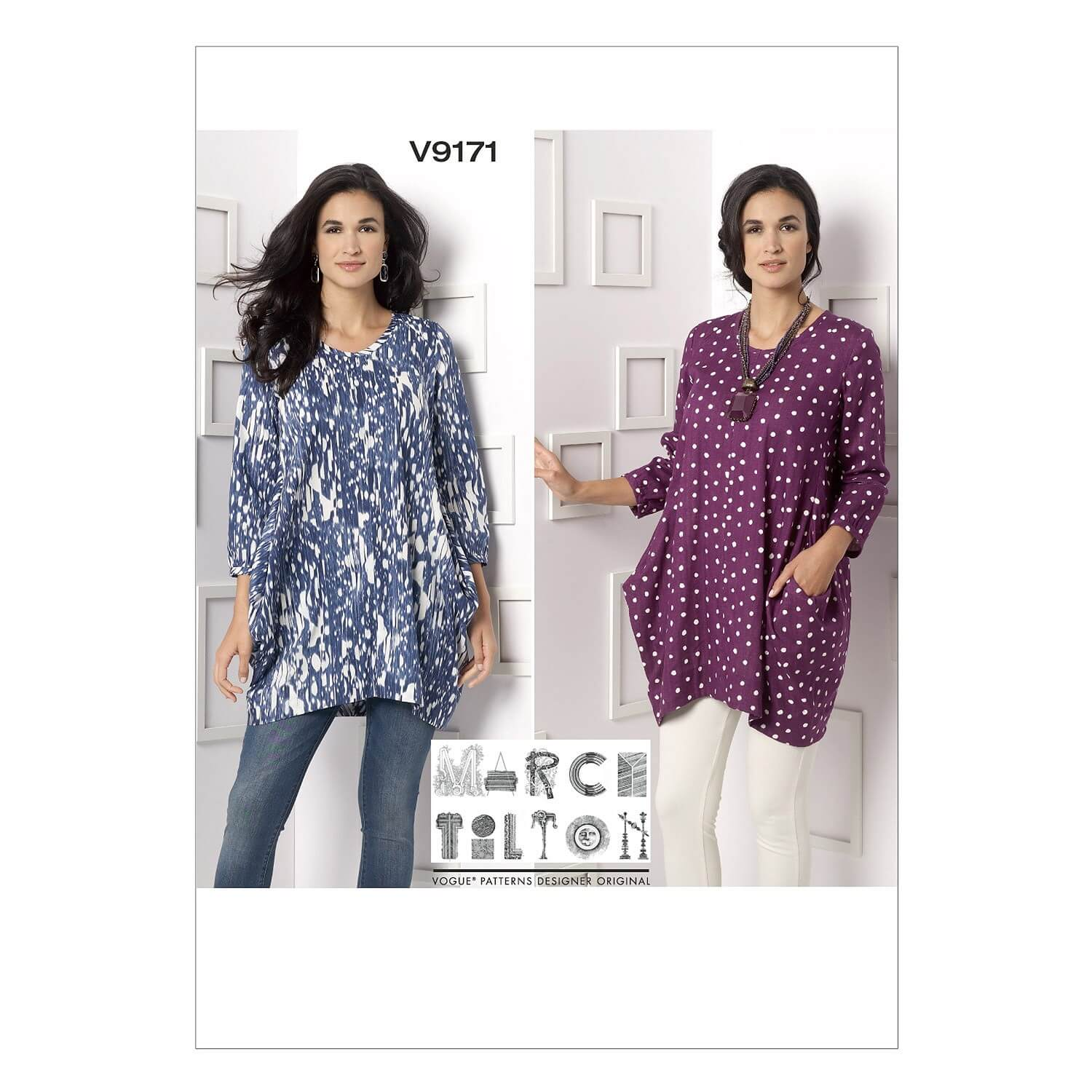 Vogue Sewing Pattern V9171 Women's Side Drape Tunic Pull Over Top