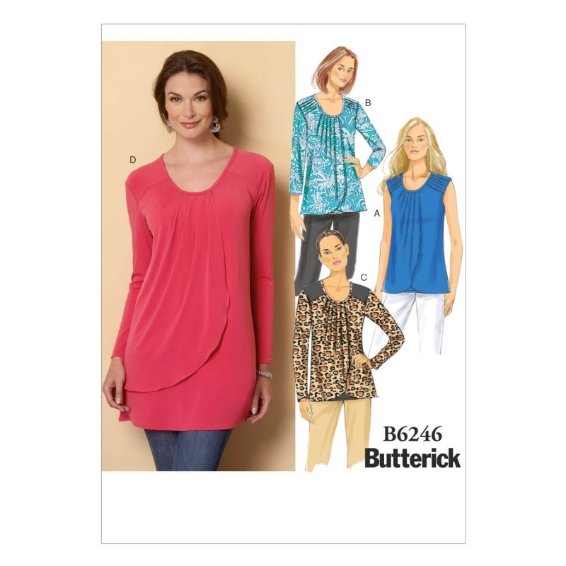 Butterick Sewing Pattern 6246 Misses' Loose Fitting Pullover Top