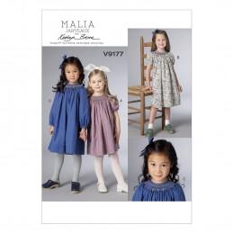 Vogue Sewing Pattern V9177 Children's Girl's Smocked Reglan-Sleeve Dresses