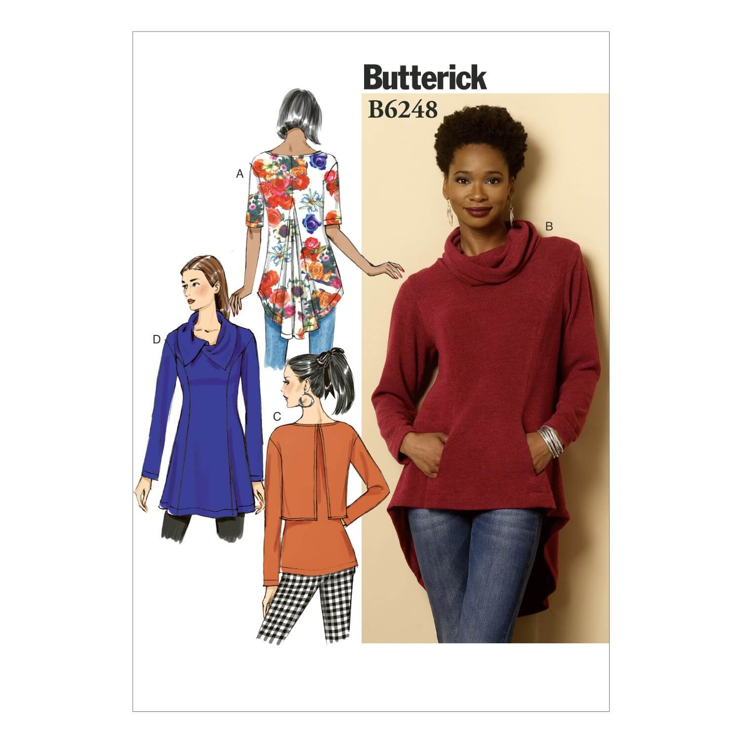 Butterick Sewing Pattern 6248 Misses' Pullover Tunic