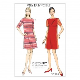 Vogue Sewing Pattern V9183 Women's Misses' Panel Dresses