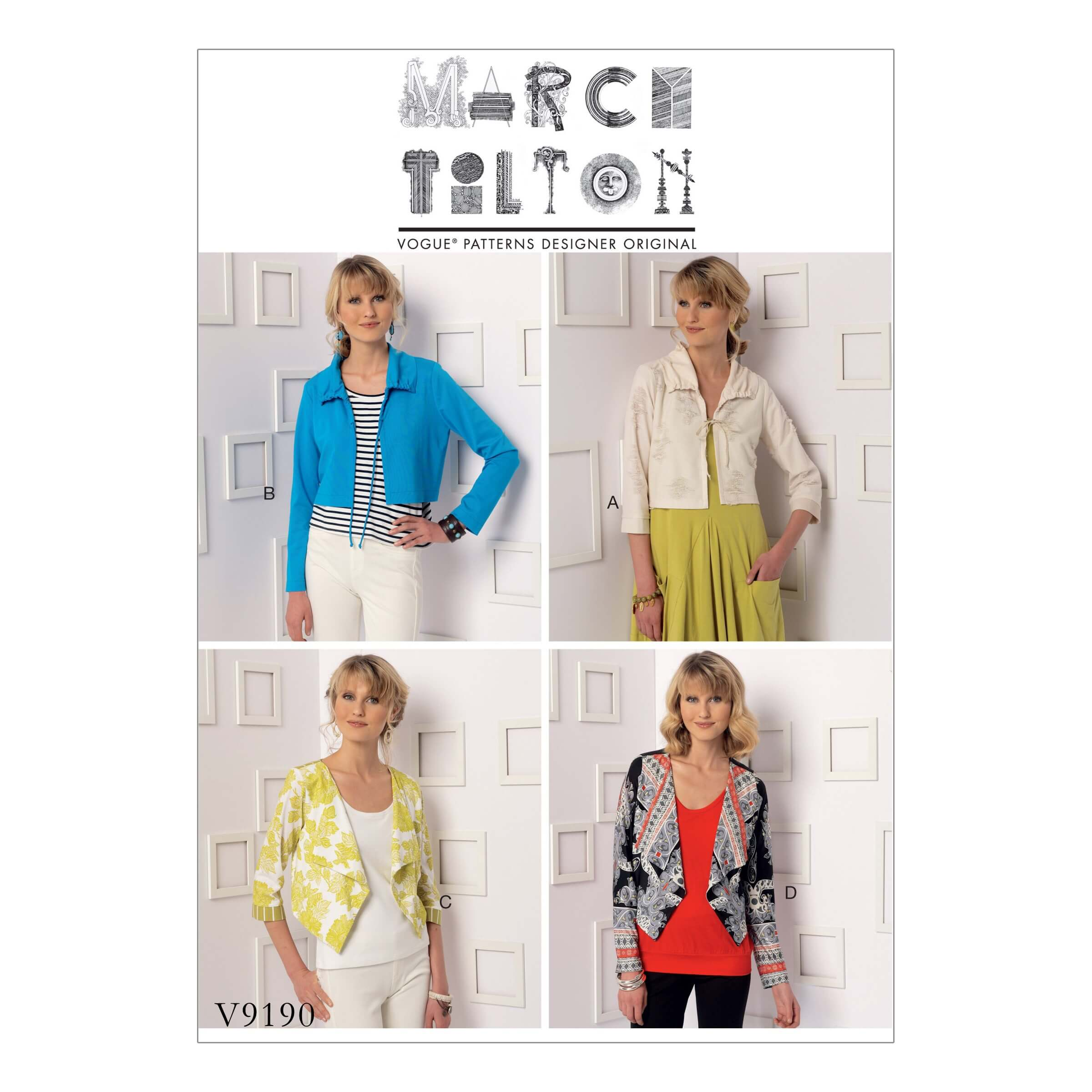 Vogue Sewing Pattern V9190 Women's Draw String Shrug Jacket