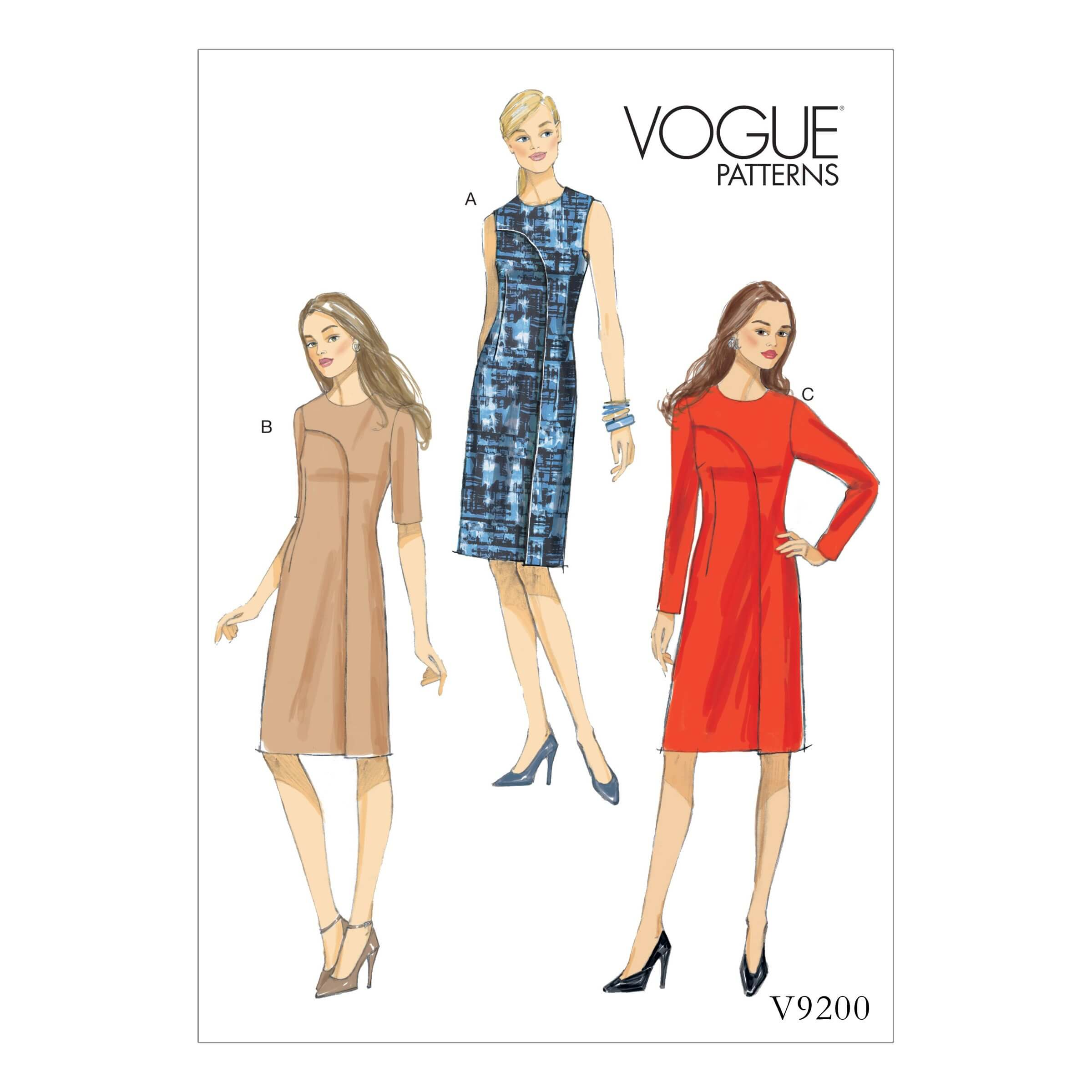 Vogue Sewing Pattern V9200 Women's Asymmetrical Overlay Dresses