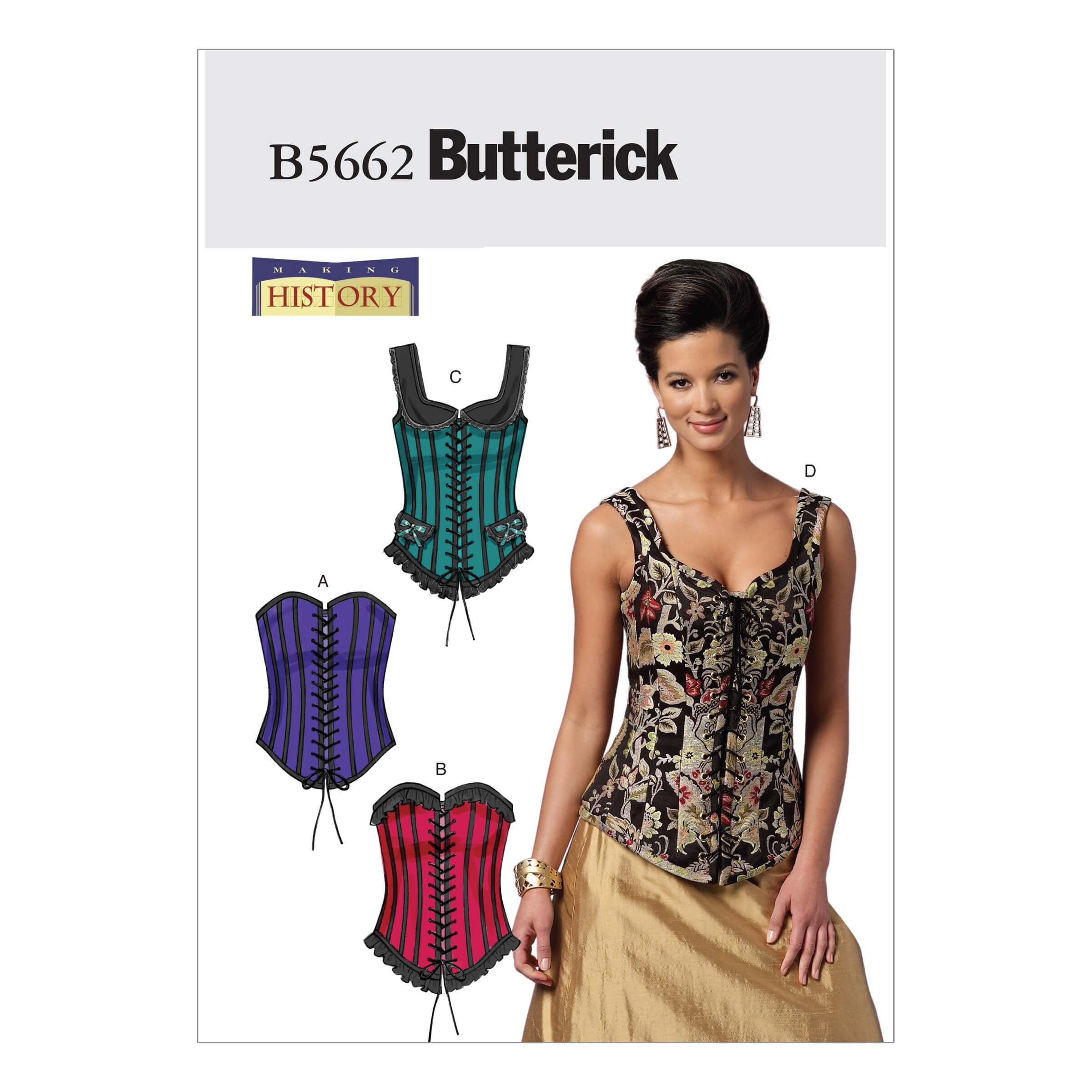 Butterick Sewing Pattern 5662 Misses' Vintage Style Corsets