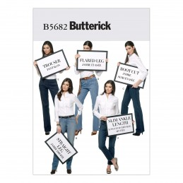 Butterick Sewing Pattern 5682 Misses' Jeans & Trousers Assorted Styles A5 6-14