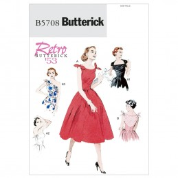 Butterick Sewing Pattern 5708 Misses' Vintage Style Evening Dress Special Occasion
