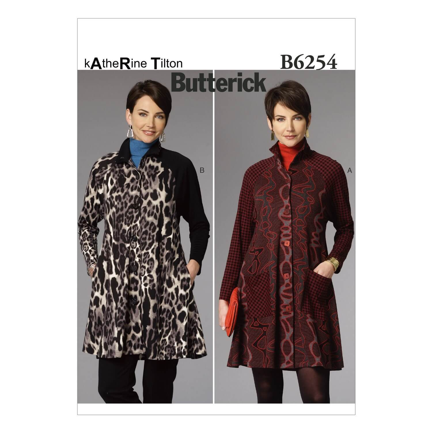 Butterick Sewing Pattern 6254 Misses' Outdoor Coat Dress