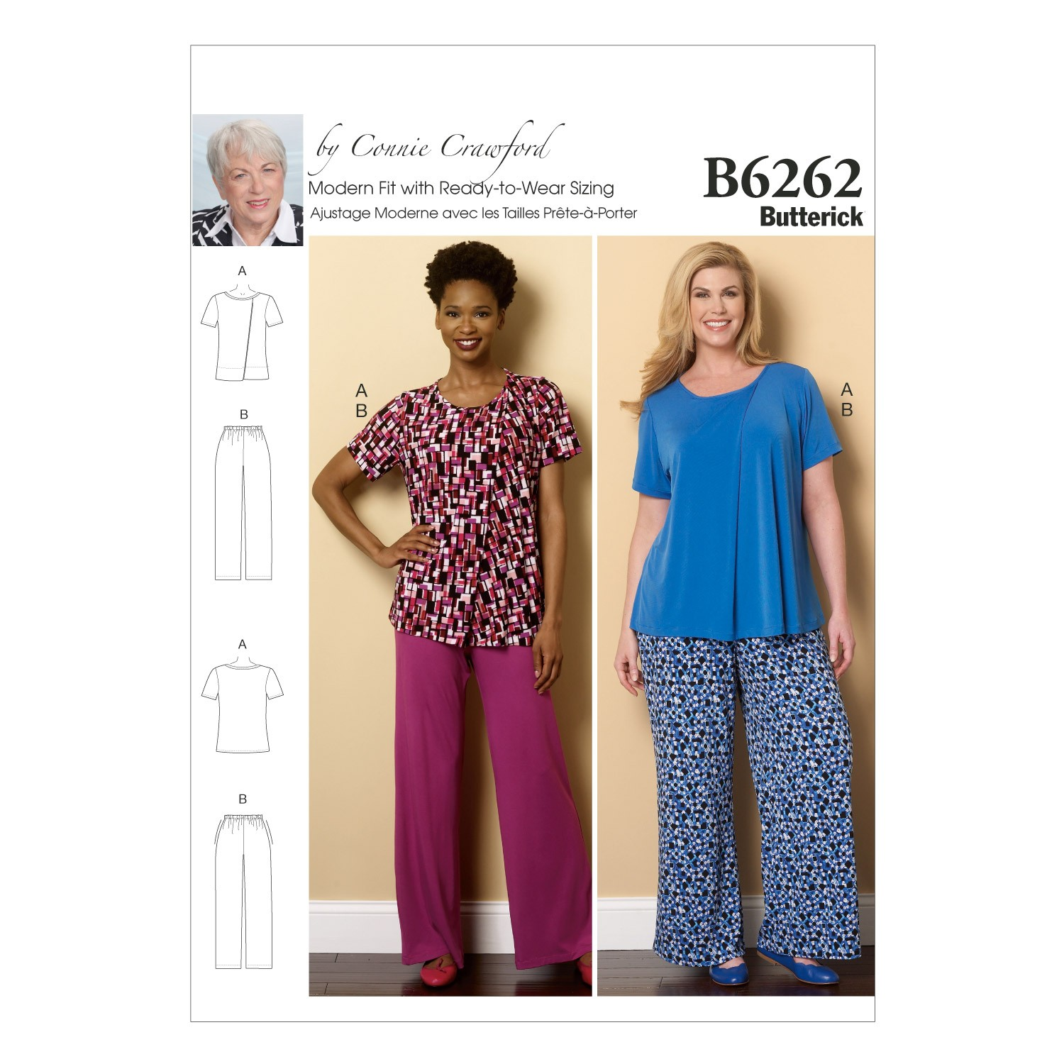Butterick Sewing Pattern 6262 Misses' Sleep & Loungewear Pyjama