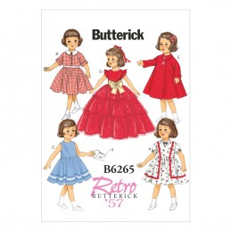 "Butterick Sewing Pattern 6265 Retro 18"" Doll Clothes Dress"