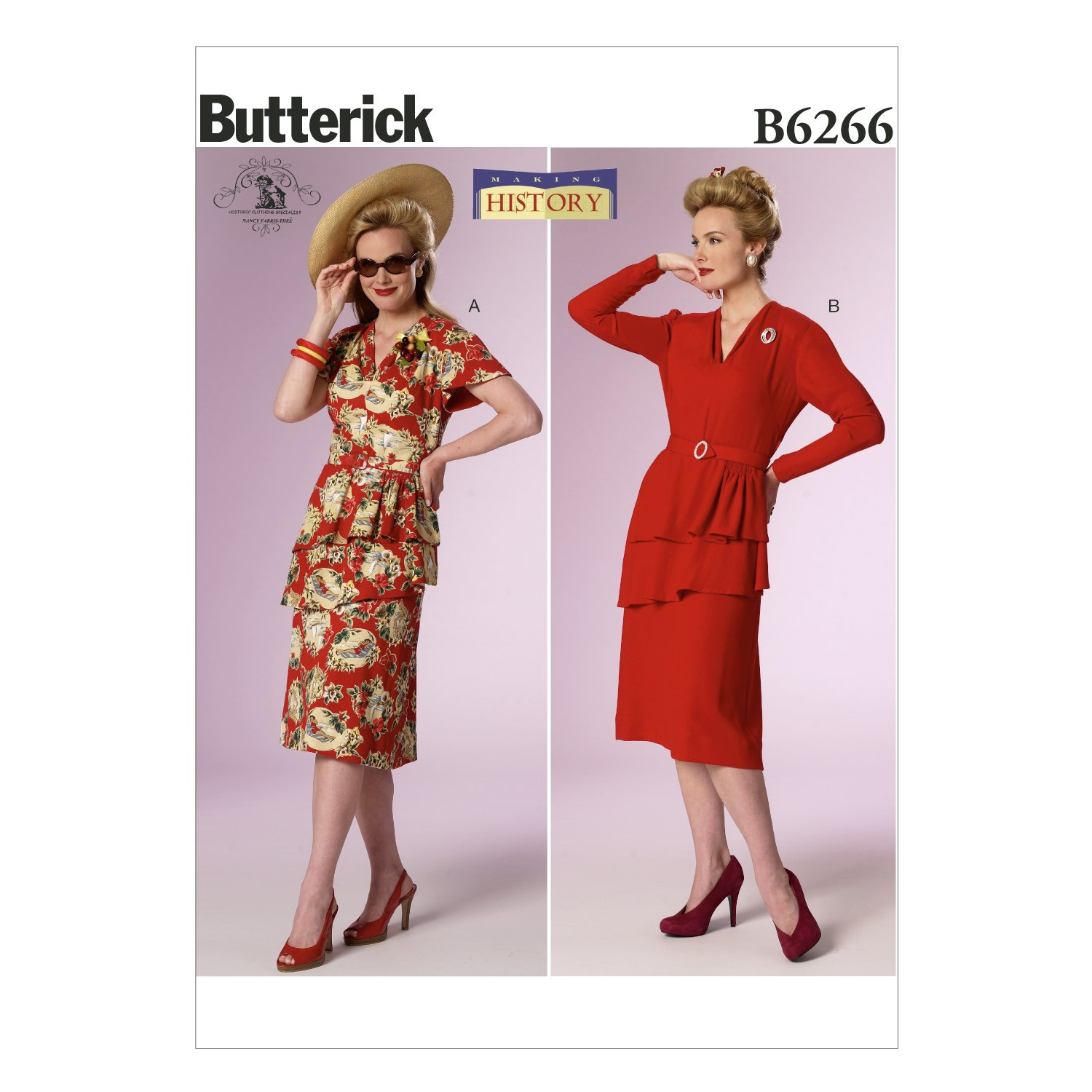 Butterick Sewing Pattern 6266 Misses' Vintage Costume