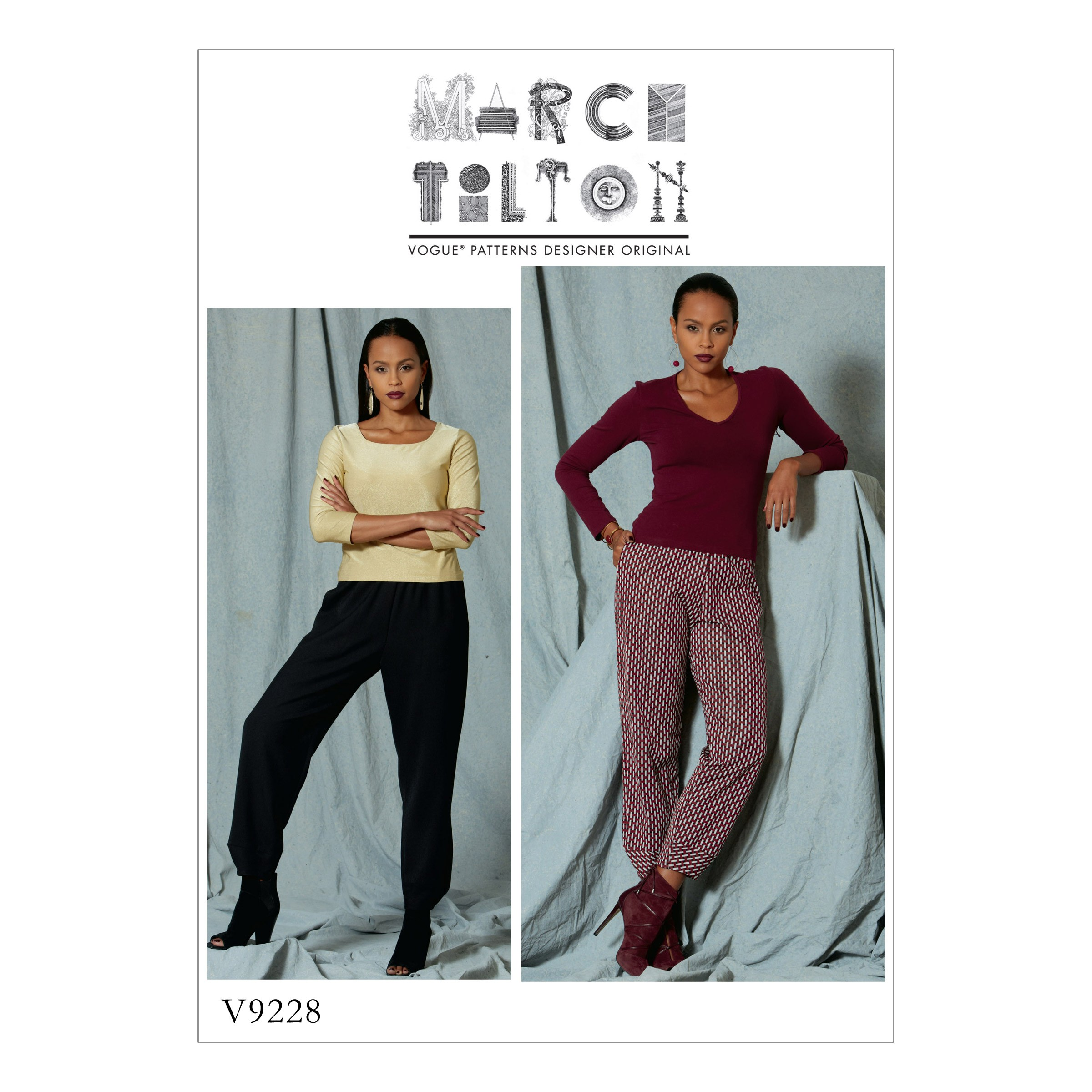 Vogue Sewing Pattern V9228 Women's Pull On Trousers With Front Pockets