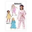 Butterick Sewing Pattern 6277 Misses' Childrens Sleepwear Top Dress Trousers