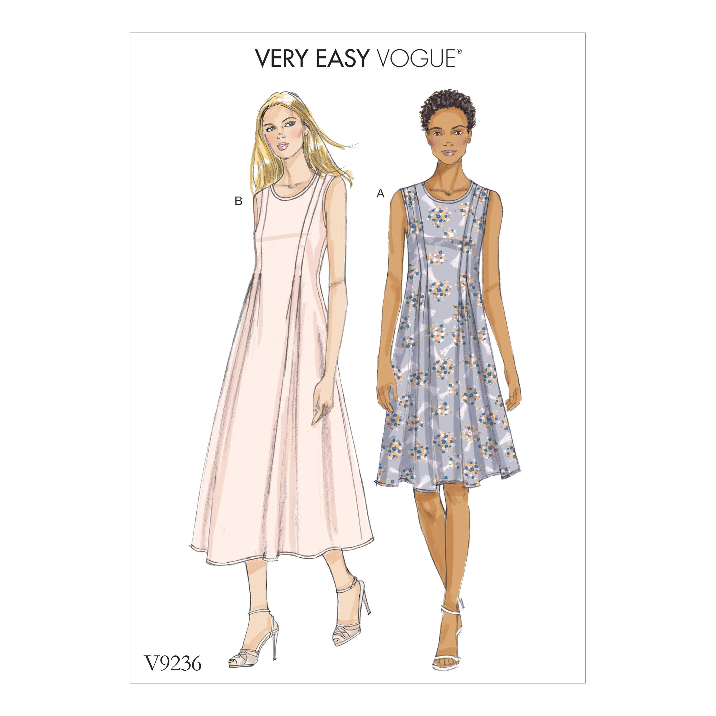 Vogue Sewing Pattern V9236 Women's Released-Pleat Fit And Flare Dresses