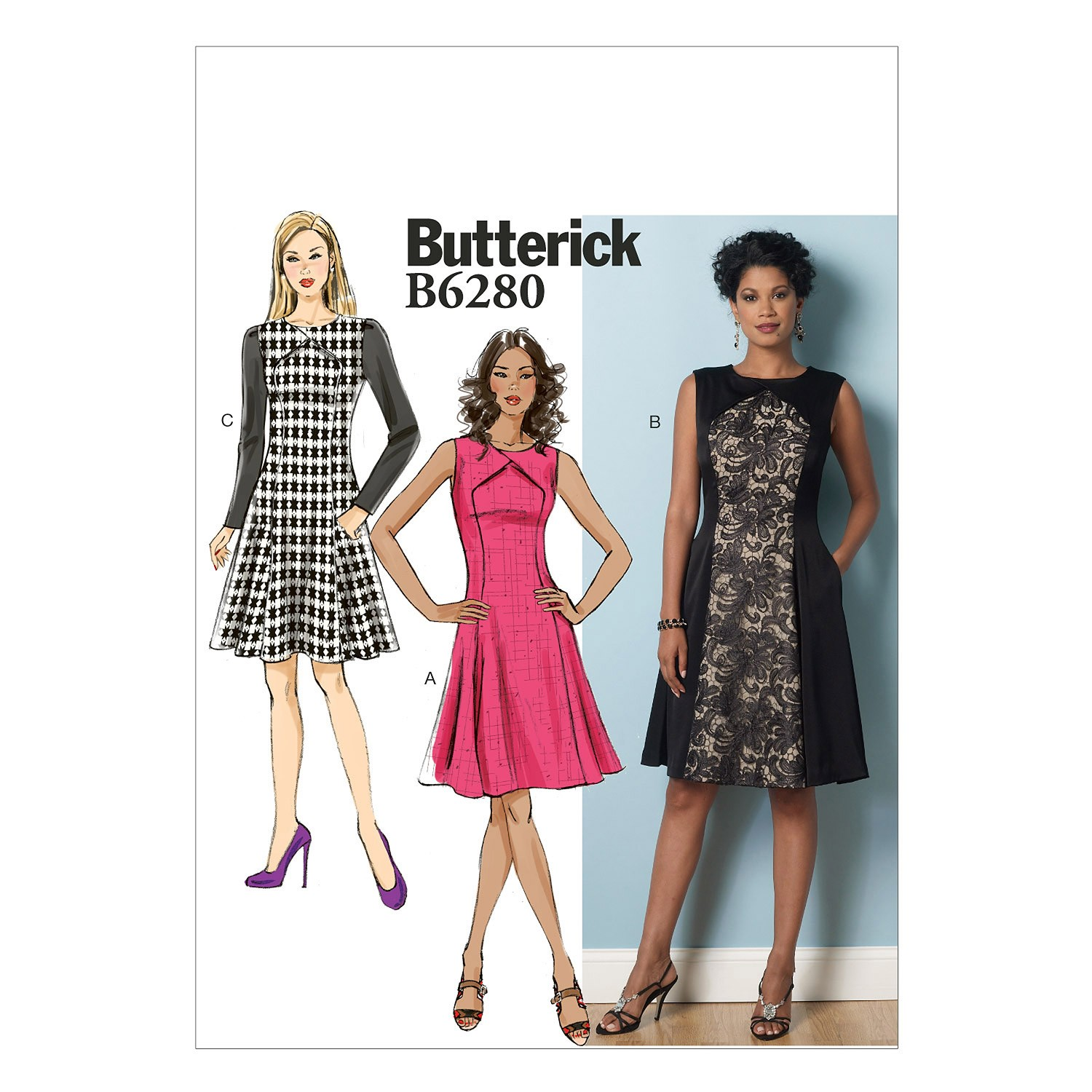 Butterick Sewing Pattern 6280 Misses' Petite Short Dress