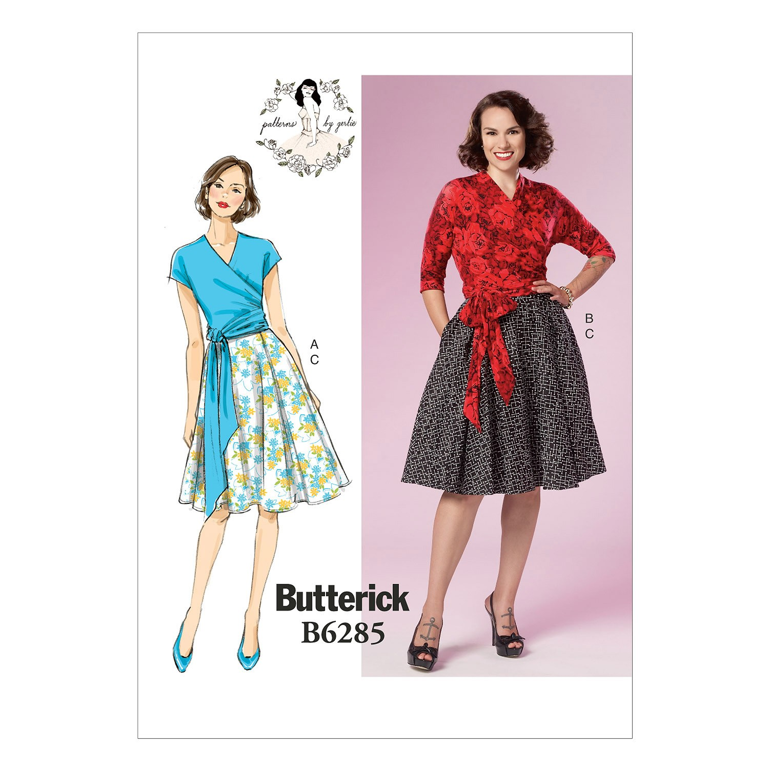 Butterick Sewing Pattern 6285 Misses' Fitted Top & Skirt